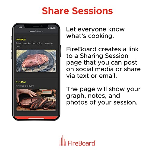 FireBoard 2 Drive Cloud Connected Smart Thermometer, Built-in Temperature Controller for Smokers, WiFi & Bluetooth, 6 Channels, Weather Resistant, Alerts & Notifications, 30+ Hour Battery