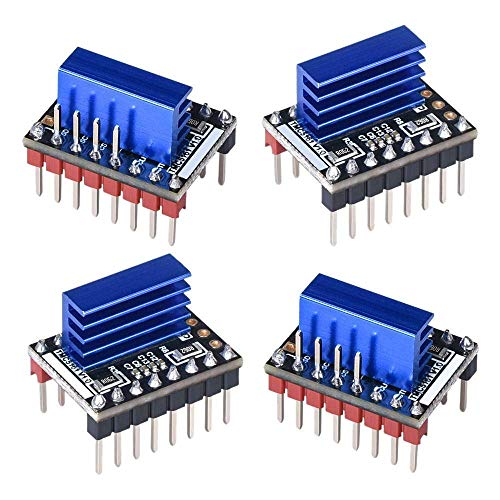 Good Stability Printer Accessories 4PCS TMC5161 V1.0 Stepper Motor Step Stick Mute Silent Driver Support SPI with Heatsink for 3D Printer Control Board Replace Damaged