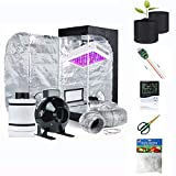 Supergrower Indoor Growing System/Indoor Grow Tent and LED Grow Light System+Grow Tents Air Filtre Kits-4 in Grow Tent Carbon Air Filter Combo (300W LED+32X32X63' Tent+4 INCH Carbon Filter Combo)