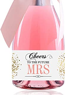 Set of 10, Cheers to the Future MRS, Mini Champagne Labels, Bridal Shower Wine Labels, for Cheers, for Celebrate, Bridal Shower Favors, Mini Wine Label, Wedding Favor