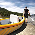 JNWEIYU Double Canoe Kayak, High-end Inflatable Boat, Brushed Material,2-Person Inflatable Kayak Set with Aluminum Oars… 10 Inflated size:Single 325 X 72cm , Double 425 x 78cm. Includes a high-output pump and aluminium oars. Capacity person maximum weight 120kg/200kg.