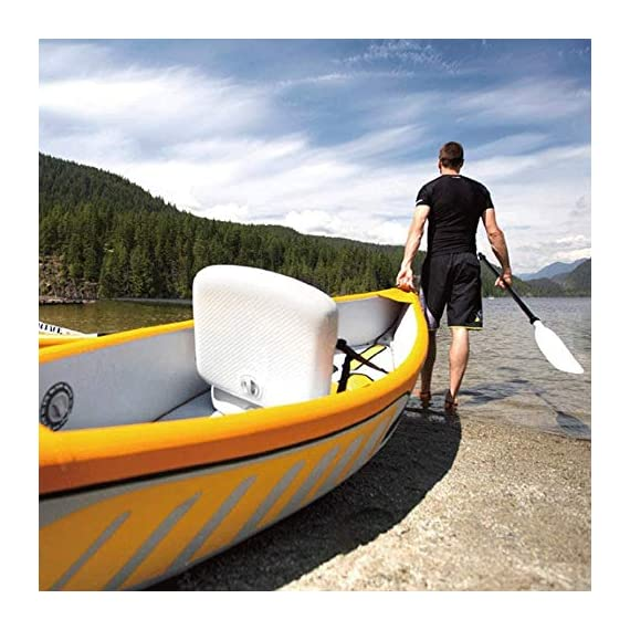 JNWEIYU Double Canoe Kayak, High-end Inflatable Boat, Brushed Material,2-Person Inflatable Kayak Set with Aluminum Oars… 4 Inflated size:Single 325 X 72cm , Double 425 x 78cm. Includes a high-output pump and aluminium oars. Capacity person maximum weight 120kg/200kg.