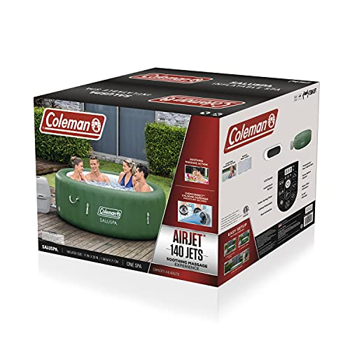 Coleman SaluSpa Inflatable Hot Tub | Portable Hot Tub W/ Heated Water System & Bubble Jets | Fits up...