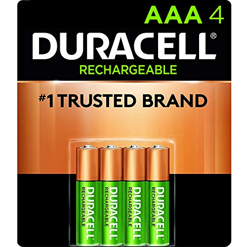 Duracell Rechargeable Stay Charged AAA Batteries, 4 Count ( Packaging May Vary)