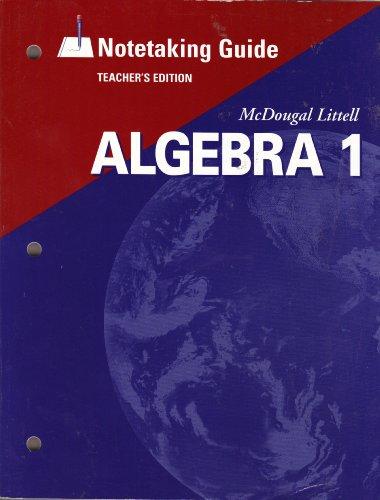 McDougal Littell High School Math: Notetaking Guide Teachers Edition Algebra 1