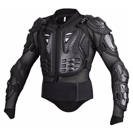 M MOTORCYCLE ARMOURED HIGH PROTECTION WATERPROOF HIVIZ JACKET BLACK ARMOUR CJ-9404