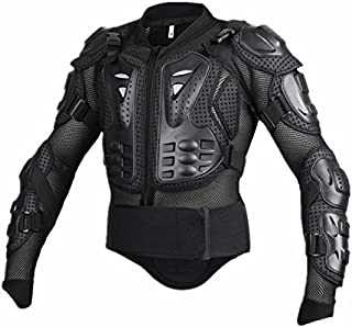 Motorcycle Full Body Armor Protective Jacket Guard ATV Motocross Gear Shirt Black Size M