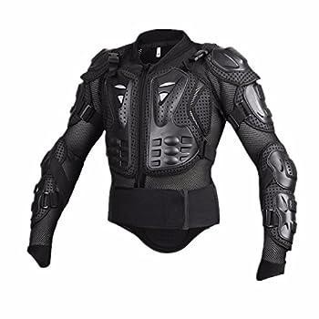 Motorcycle Full Body Armor Protective Jacket Guard ATV Motocross Gear Shirt Black Size L