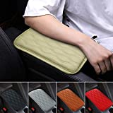 Mioloe Universal Buff Auto Center Console Cover Pad Fit for SUV/Truck/Car, Waterproof Car Armrest Seat Box Cover, Leather Auto Armrest Cover