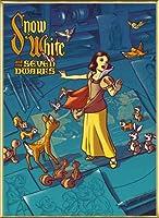 ポスター ジェームス フレームス Mondo Snow White 白雪姫 Cyclops Print 限定305枚 手書きナンバリング入り 額装品 アルミ製ベーシックフレーム(ゴールド)