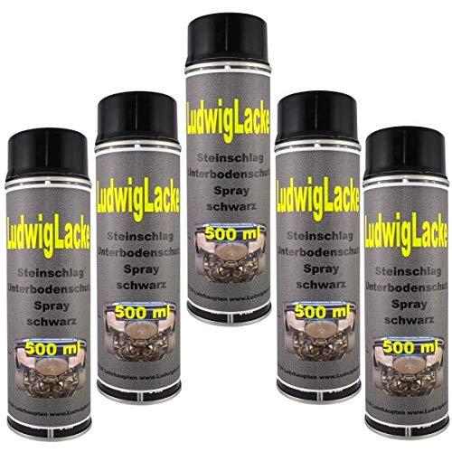 Steinschlagschutz Unterbodenschutz 5 x 500 ml Spray Schwarz