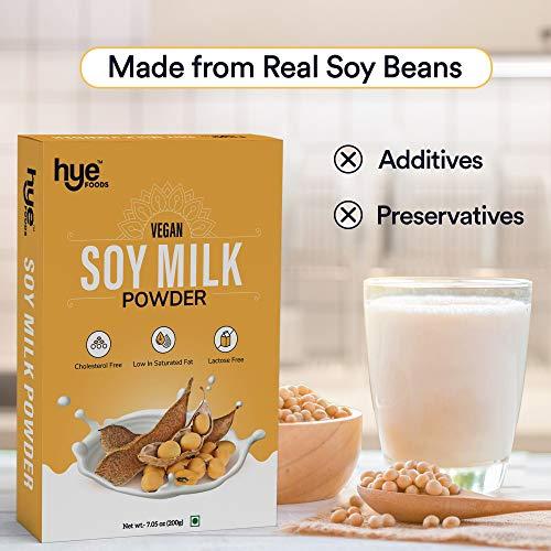 HYE FOODS Vegan Soy Milk Powder | 49% Protein | Unsweetened | 7.05 Oz (200g)