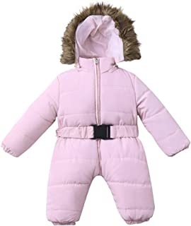 Winter Baby Boy Girl Onesie Snowsuit Puffer Down Jacket Hooded Romper Jumpsuit Warm Thick Coat Outfit