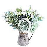 Relaxmate Flores artificiales con jarrón, arreglos de flores para decoración de mesa de centro, decoraciones para sala de estar, centros de mesa de comedor