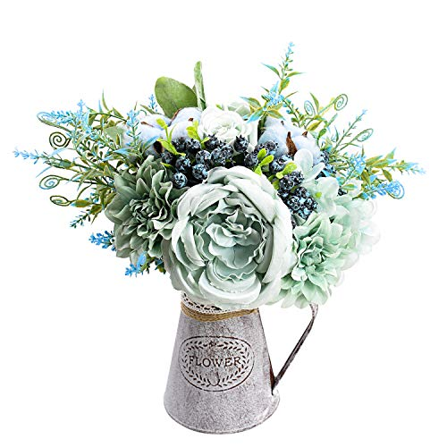 Relaxmate Artificial Flowers with Vase, Flower Arrangements for Coffee Table Decor, Decorations for Living Room, Centerpieces for Dining Room Table