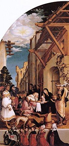 The Museum Outlet Retable Oberried (intérieur, à gauche d'aile de l'Adoration du Magi. C.1520 – Canvas Print Online Buy (76,2 x 101,6 cm)