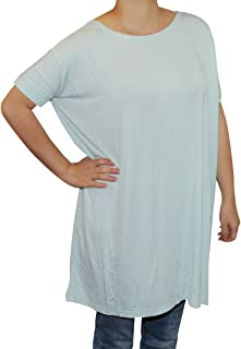 Women's Famous Short Sleeve Bamboo Tunic Top Loose Fit