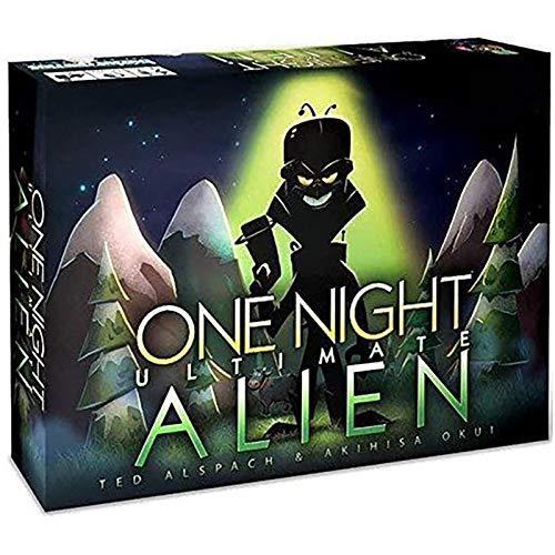 OHHCO Uno de Alien Party Night Juego de Cartas Juegos de Mesa Consola de Juegos (temáticas) 3 a 10 Jugadores Inglés Versión para la Tercera Fiesta de Halloween Adulto Menor