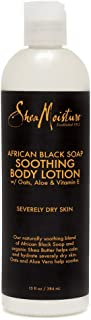 Sheamoisture Soothing Body Lotion for Troubled Skin African Black Soap Lotion with Shea Butter 13 oz
