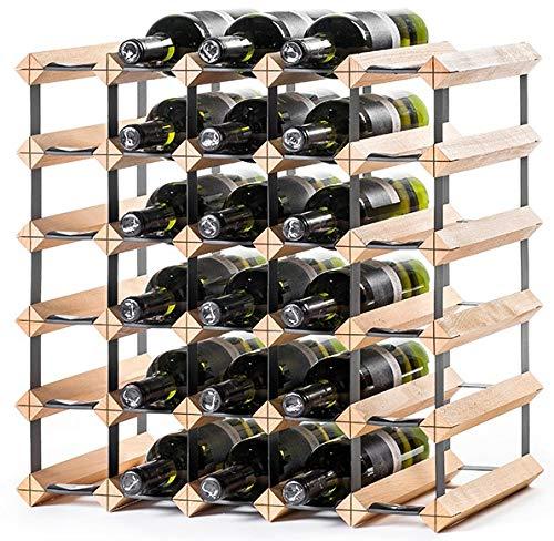 RAXI ™ Classic Premium Weinregal aus Holz mit luxuriösem Design/Flaschenregal für 30x Wein Flaschen - 51,5x51,5x30 cm