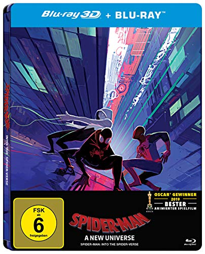 Spider-Man: A new Universe (3D Version (2 Disc) Steelbook) amazon exklusiv [Alemania] [Blu-ray]