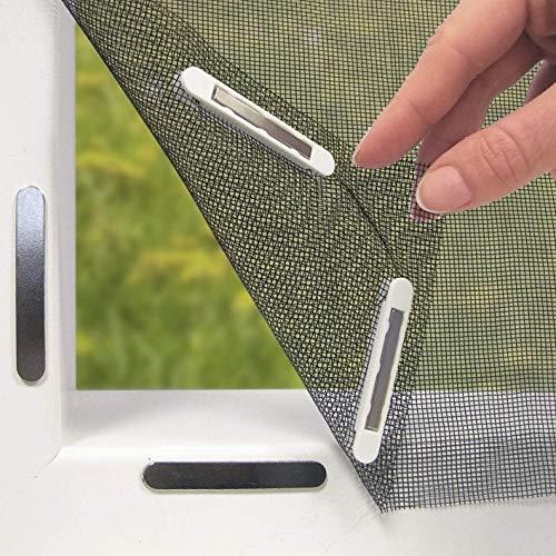 EASYmaxx Fenster-Moskitonetz mit Magnetbefestigung | Zuschneidbar, für fast alle Fenster | Klebemontage, ohne zu Bohren | Durchsichtig [Maße: ca. 150 x 130cm]