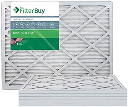 AFB Platinum MERV 13 14x30x1 Pleated AC Furnace Air Filter. Pack of 6 Filters. 100% produced in the USA. [並行輸入品]
