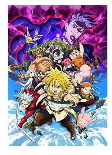 xuyuandass Los Siete Pecados Capitales De Umeda Anime Manga Pintura De Pared Sin Marco 50x60Cm K2185