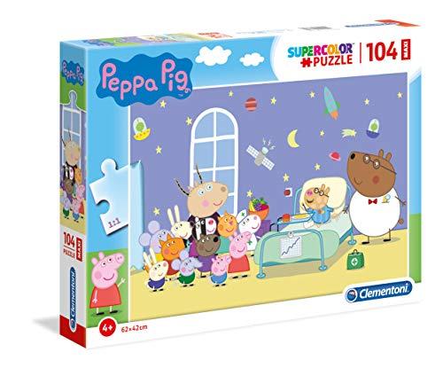 Clementoni Supercolor Puzzle-Peppa Pig-104 Piezas Maxi, Multicolor (23735)