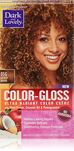 SoftSheen-Carson Dark and Lovely Color-Gloss Ultra Radiant Hair Color Crème, Golden Brown 05G
