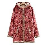 Berimaterry Sudadera con Capucha para Mujer tamaño Grande suéter para Mujer otoño e Invierno Camisa de Manga Larga Chaqueta Caliente botón de Felpa Descuento Abrigos de Talla Grande mujer invierno