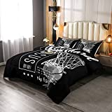 Erosebridal Passionate Basketball Sports Comforter Set Goal from Hoop Duvet Sets for Boys Kids Teens Men with Motivated No Failure Quote Bedding Set Twin Size Soft Microfiber Room Decoration