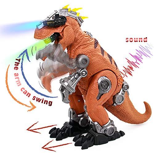 jerryvon Indominus Rex Dinosauro Giocattolo T-Rex con Luci e Suoni Educativo Edificio di Dinosauro Jurassic Mondo Giocattoli per Bambini 3 4 5 6 Anni
