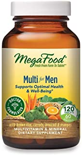 MegaFood, Multi for Men, Supports Optimal Health and Wellbeing, Multivitamin and Mineral Dietary Supplement, Gluten Free, ...