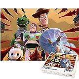 Puzzle de 1000 Piezas para niños Rompecabezas Buzz Lightyear y Rhino Juegos educativos para niños Rompecabezas decoración del hogar Regalo Creativo 70x50cm-Toy Story