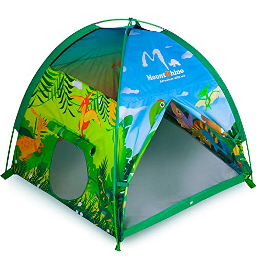 "MountRhino Kids Play Tent & Playhouse,48""x48""x42"" Dinosaur World Indoor Outdoor Kids Tent,Portable Children Tents Playhouse for Boys Girls Imaginative Camping Playground Games Gift"