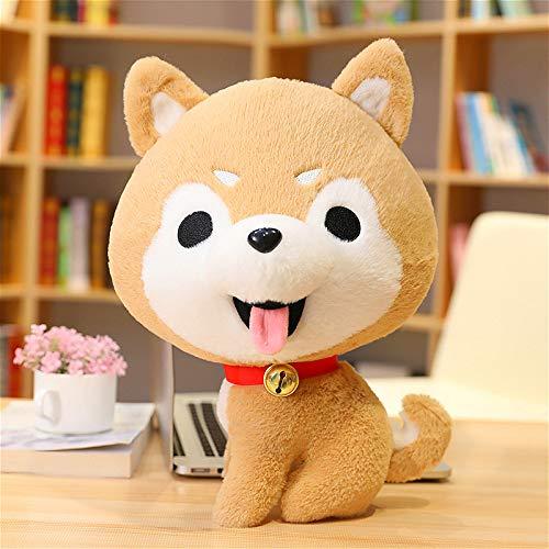 Mengku Cartoon Bell Husky Kleine Puppe Puppe Kind Nettes Hundekissen Geburtstagsgeschenk Home Decoration 35Cm (0.38Kg) Brown Black Eyes
