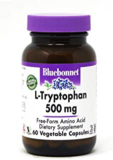 Bluebonnet Nutrition L-Trytophan 500mg Vegetable Capsules, 60Count