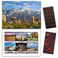 """DA CHOCOLATE キャンディ スーベニア """"DENVER"""" DENVER チョコレートセット 7,2×5,2一箱 (DARK Strawberry Date Cherry)"""