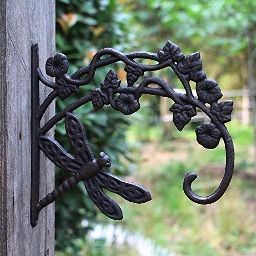 Belleashy Hanging Brackets Heavy Duty hängenden Korb Brackets Pflanze Haken Metall Outdoor Garten Wandhaken for Patio Lawn Yard (Color : As Shown, Size : 27x25cm)