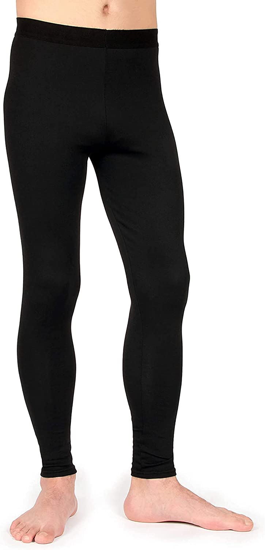 LT-RAM Thermal Underwear for Men Long Black Cotton Thermal Pants