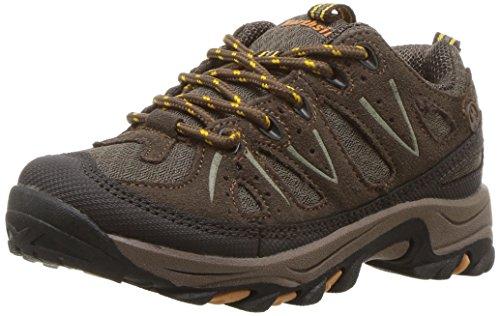 Northside Unisex-Kid's Cheyenne Jr Hiking Shoe, Taupe/Mango, 4 Wide US Big Kid