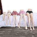 シリコン太もも愛人形セックス人形下半身男性オナホール脚モデル2つの開口部肛門と膣金属スケルトン,55cm
