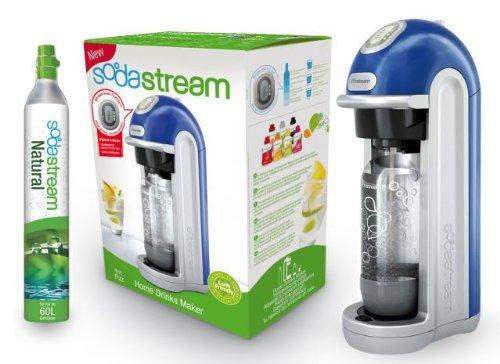 SodaStream 1018111493 Fizz Machine à soda + 1 cylindre 60 L + 1 bouteille PET 1 L Bleu