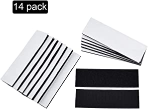 Heavy Duty Hook and Loop Tape Strips with Adhesive,14PCS Sticky Back Tape Industrial Strength Fastener Interlocking Mounting Tape for Home Office Use(1.2x4inch)