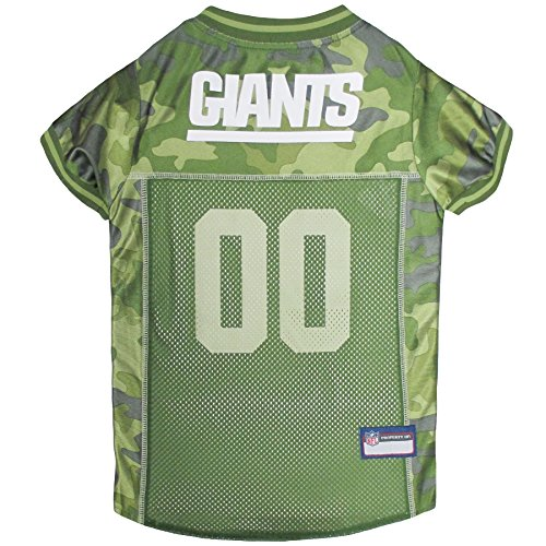 NFL New York Giants Camouflage Dog Jersey, Large. - CAMO PET Jersey Available in 5 Sizes & 32 NFL Teams. Hunting Dog Shirt