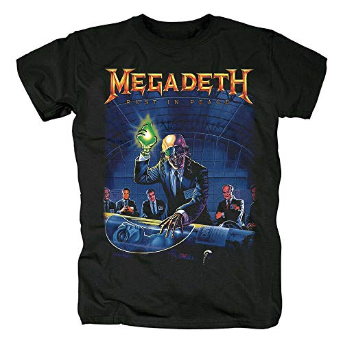 Megadeth Rust In Peace T-Shirt Funny Cotton tee Vintage Gift For Men Women