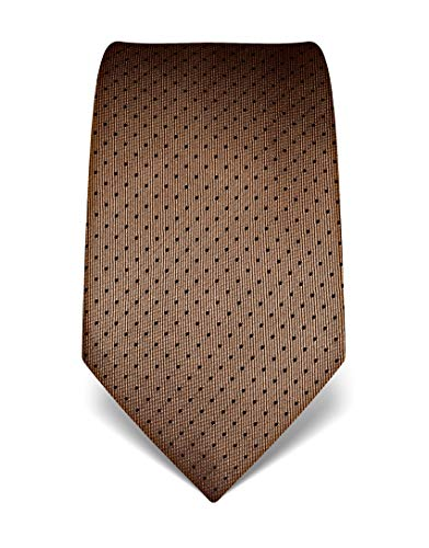 Vincenzo Boretti Corbata de hombre en seda pura, de lunares marrón