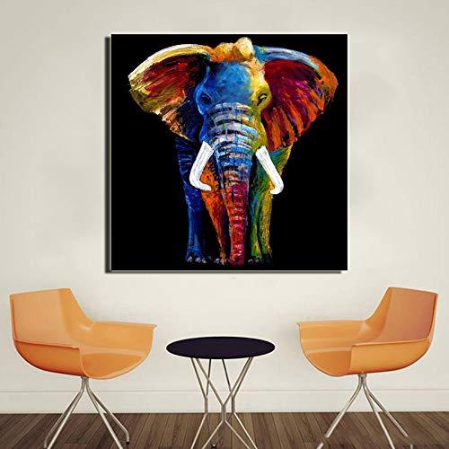 tzxdbh schilderij olifantendoek, wanddecoratie voor woonkamer, affiches en drukken, diermotief 40x40cm S