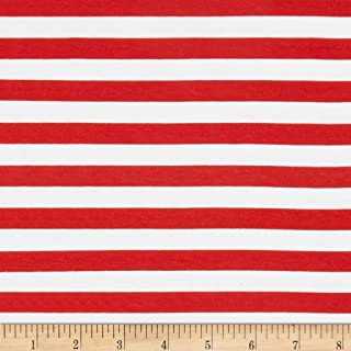 Best red and white striped jersey fabric Reviews